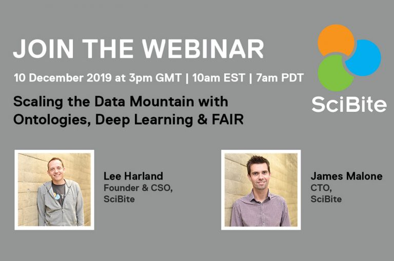 SciBite Webinar: Scaling the Data Mountain with Ontologies, Deep Learning & FAIR