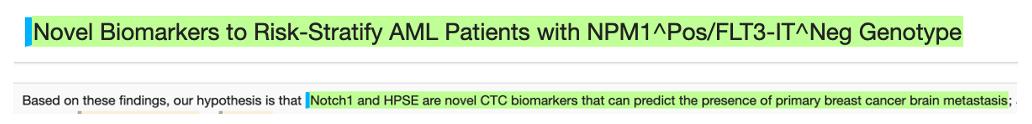 Novel biomarkers