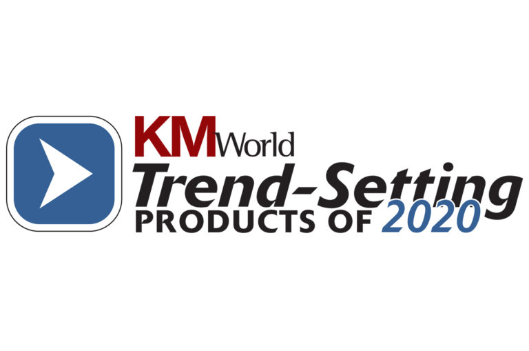 KMWorld Trend-Setting Products 2020